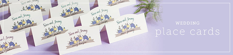 Custom Wedding Place Cards