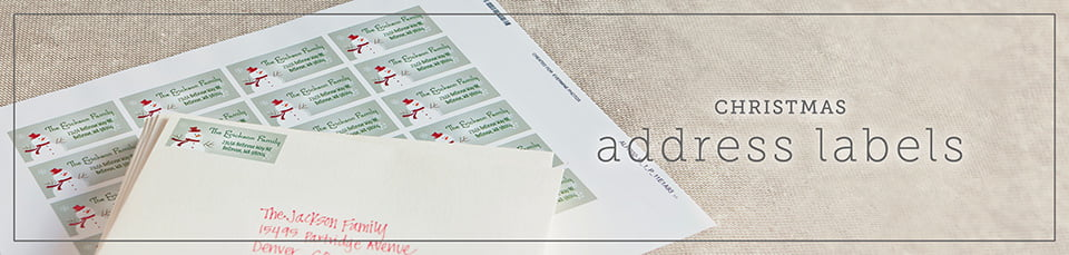 Custom Christmas Address Labels