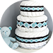 diaper cake decor