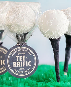 Father's Day Golf Cake Pops