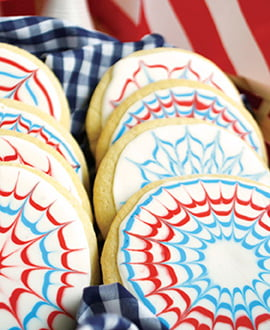 fourth of july firework cookies