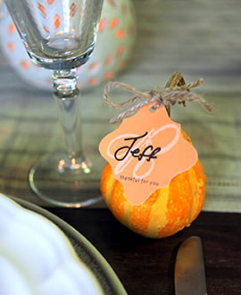 Gourd Place Cards