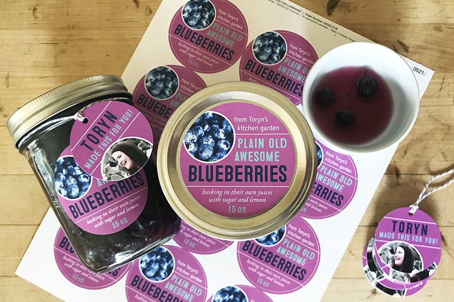 canned blueberries