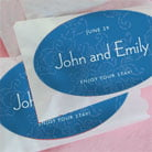 persimmon flower wide oval labels