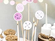 circle cake toppers