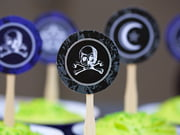 circle cupcake toppers - spook style