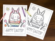 easter coloring sheets - bunny style