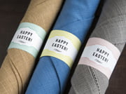 easter napkin wrappers - apothecary deluxe style
