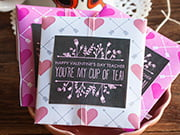 valentines tea envelopes