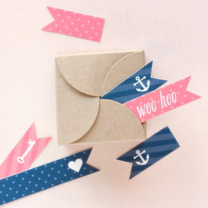 wedding favor flags