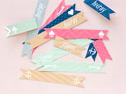 party straw flags