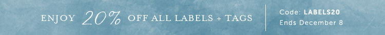 20% off labels and tags