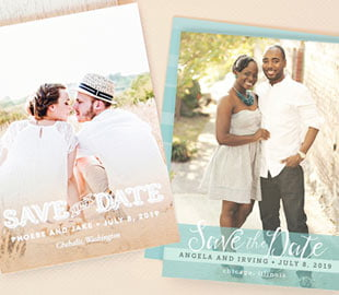 50% OFF SAVE THE DATE CARDS style